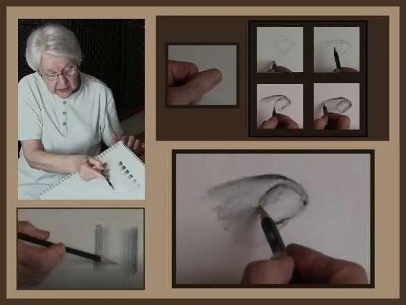 gradating with pencils