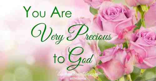 Do you know how much you are loved? I think we all need reminders from time to time about how much God Himself loves us. We are precious to Him!