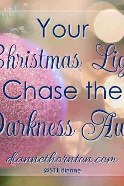Christmas lights are everywhere right now. But God put on the first display. We can shine Christmas light every day. They chase the darkness away!