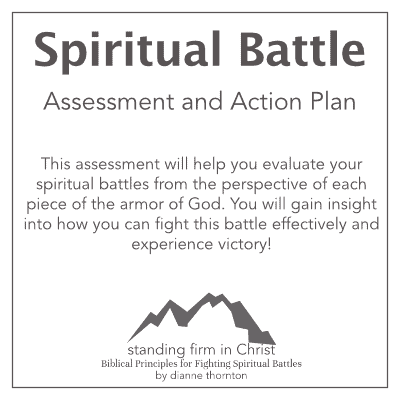 Standing Firm in Christ Spiritual Battle Assessment and Action Plan