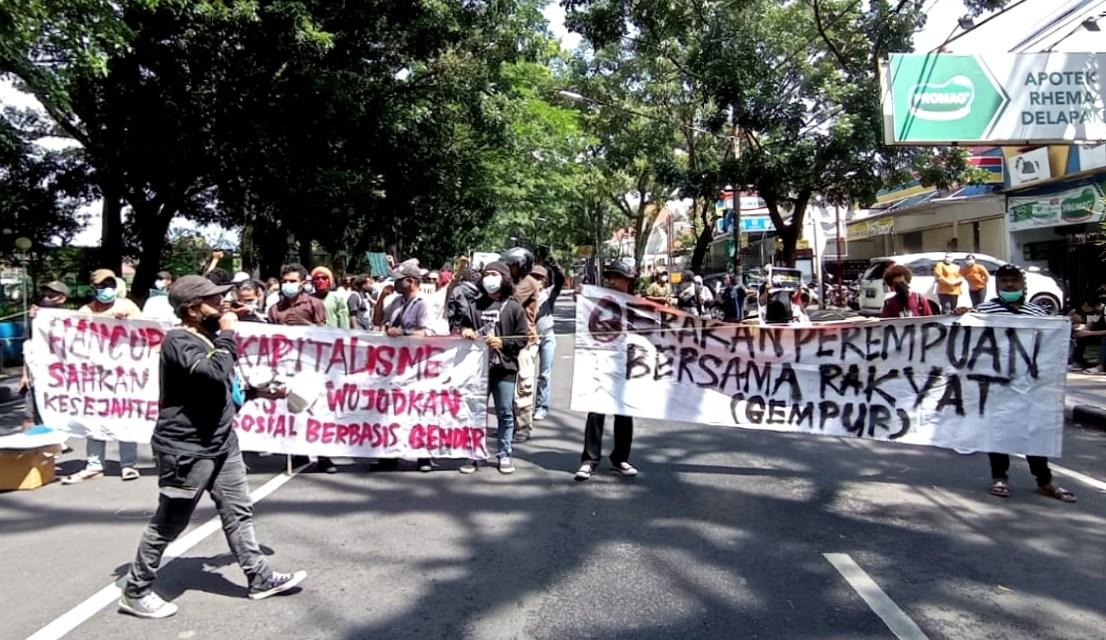 Pembubaran Paksa Massa Aksi di Malang pada Peringatan Hari Perempuan Internasional