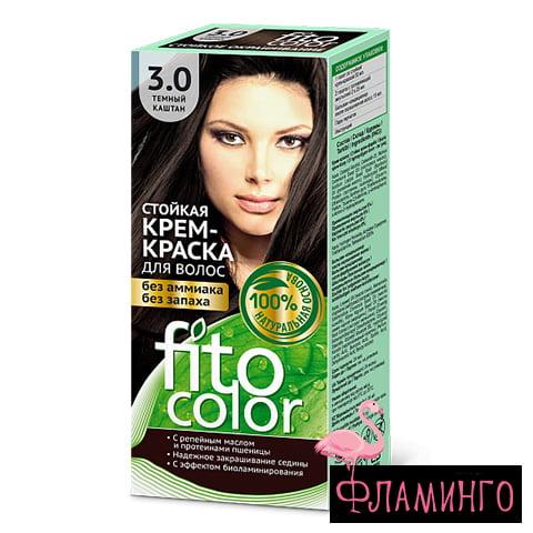 ФИТОКОЛОР тон 3.0 (темный каштан) Стойкая крем-краска д/волос,115мл (20шт) 1