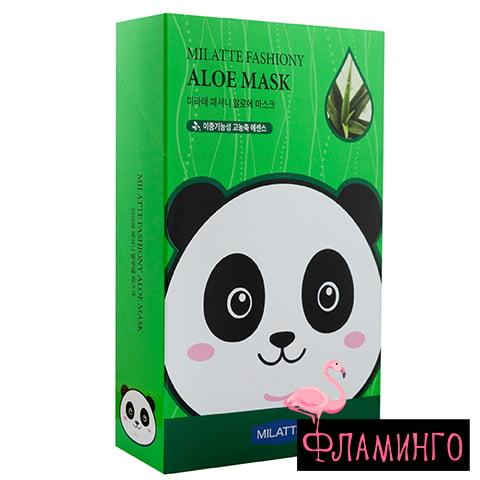 MILATTE Тканевая маска для лица ALOE с экстрактом алое (*10) 1