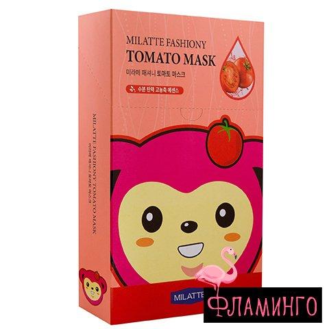 MILATTE Тканевая маска для лица TOMATO с экстрактом томата (*10) 1