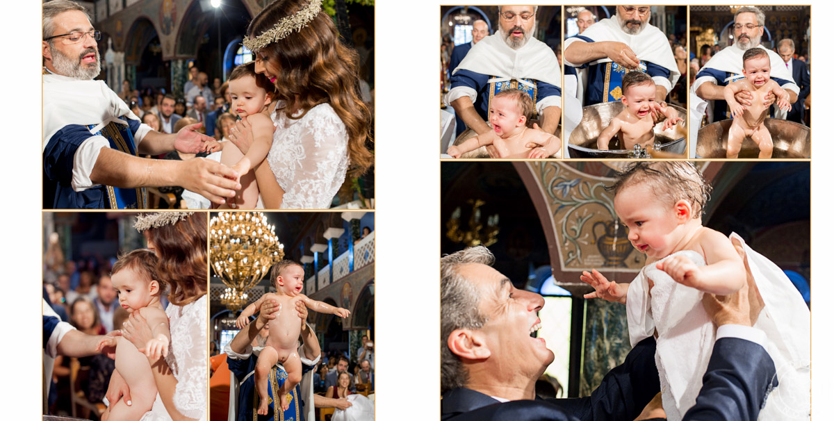 Greek wedding and baptism