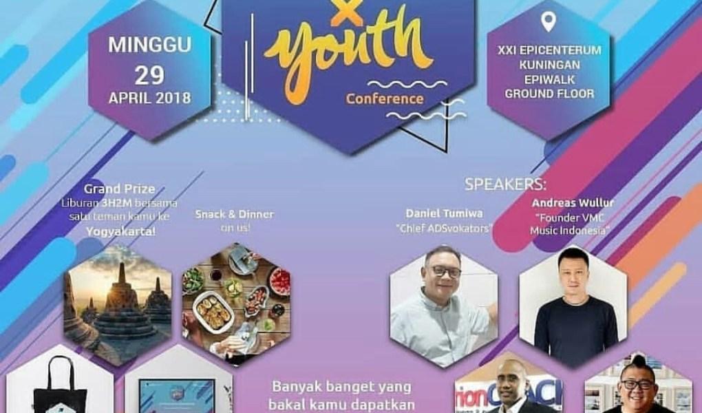 Daniel Tumiwa menjadi salah satu narasumber di Adsvokat X Youth Conference