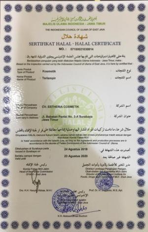 sertifikat halal oxyglow