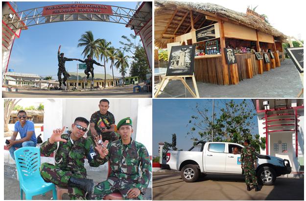 Suasana di seputar portal batas Negara Republik Indonesia
