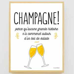 Affiche encadrée Champagne Salade