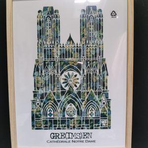 Affiche encadrée Cathédrale Verte