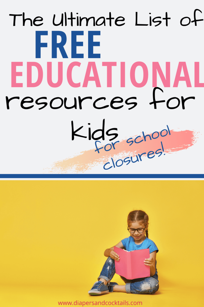 The ultimate guide of free educational resources for kids during the Coronavirus outbreak.