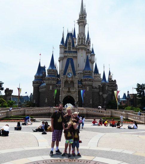 Travel, Family, Tokyo, Disneyland, Japan, Asia, Fairy Godmother, Mickey, Mouse,, Cinderella's Castle