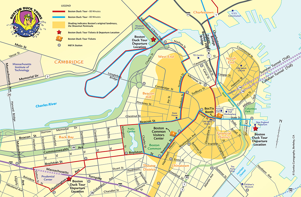 Boston Trolley Tours Map Maps Map Usa Images Free