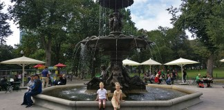 Boston Common, First Stop on the Freedom Trail, Freedom Trail with Kids, diapersonaplane, diapers on a plane, creating family memories, family travel, traveling with kids