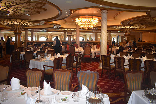 Disney Cruise Dining, Rotational Dining, Dining on a Disney Cruise, Triton's, Lumiere's, Main Dining, Elegant Dining Disney Cruise, Royal Court, Disney Fantasy, Diapersonaplane, Diapers on a plane, traveling with kids, family travel, creating family memories, world schooling