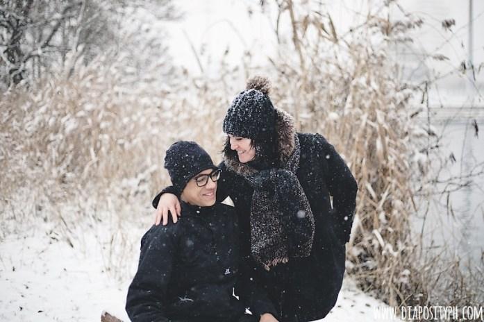 Session dans la neige Photographe Paris Essonne