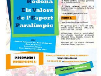 cartell taula rodona esport parlímpic