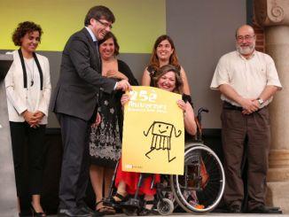 carles puigdemont commemoració 25è aniversari Amputats Sant Jordi