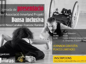 cartell jornada dansa inclusiva diversitat funcional grup mifas