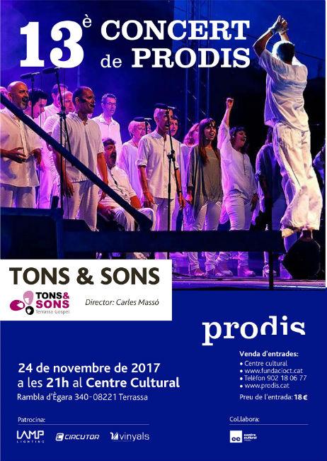 cartell conceert musical prodis tons&sons