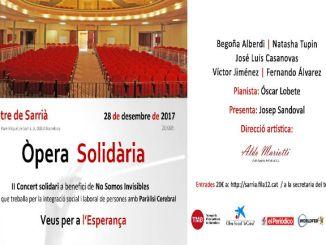 cartell concert òpera solidària no somos invisibles