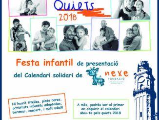 cartell festa presentació calendari mou-te pels quiets