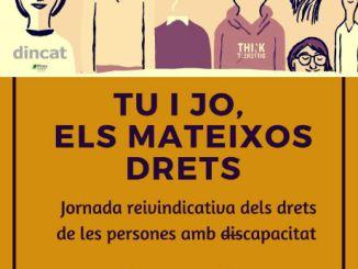cartell joranda plaça universitat drets persones discapacitat intel·lectual