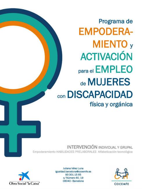 Unes 80 persones a Barcelona es beneficiaran del II Programa d'apoderament per a dones amb discapacitat