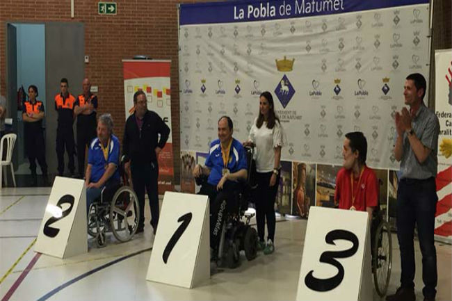Vasile Agache es proclama a La Pobla de Mafumet campió de Catalunya de boccia categoria BC4