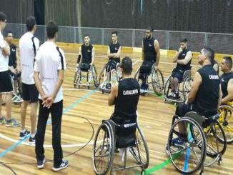 entrenament selecció catalana basquet cadira rodes