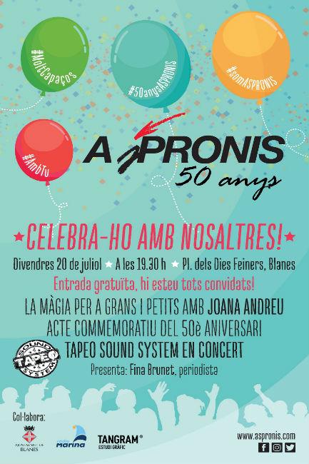 ASPRONIS celebra una gran festa a Blanes per commemorar el 50è aniversari de l'entitat
