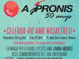 cartell festa blanes 50 aniversari aspronis