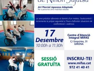 cartell sessió jujutsu art marcial diversitat funcional