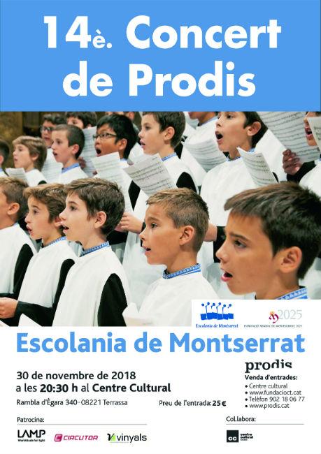 Es presenta la 14a edició del Concert Solidari de Prodis que protagonitzarà l'Escolania de Montserrat