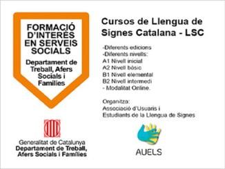 govern formació interés social cursos llengua signes catalana