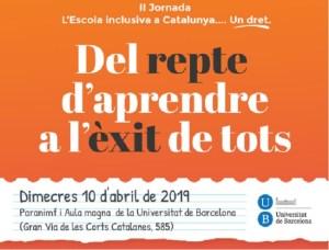 cartell jornada aspasim escola inclusiva catalunya un dret