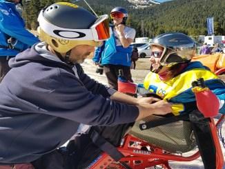 persones diferents discapacitats sortida esquí adaptat la molina