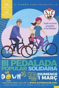 pedalada popular solidaria benefici projectes down lleida