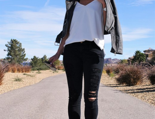 My Favorite Fall Go To Look: Suede Jacket x Distressed Denim