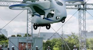 Auto volador de NEC flotó durante un minuto 14