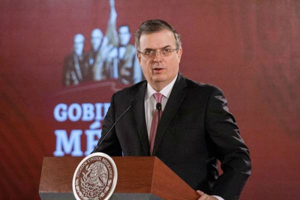 Canciller de Relaciones Exteriores de México Ebrard