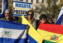 Integrantes de la diáspora boliviana protestan en Washington 6