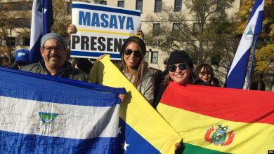 Photo of Integrantes de la diáspora boliviana protestan en Washington