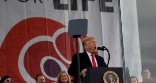 """Trump: Siento un """"honor profundo"""" al ser el primer presidente en asistir a Marcha por la Vida 13"""