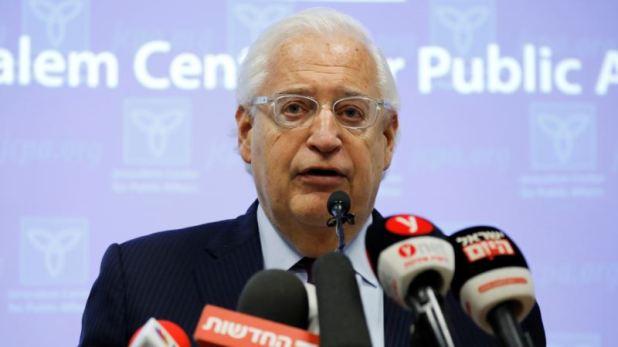 Anexiones unilaterales israelíes pondrían en peligro apoyo de EEUU: enviado 1