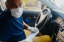 Jhon Jiménez, taxista venezolano, contó a la VOA las peripecias que hace para seguir trabajando en Venezuela [Foto: Fabiana Rondón]