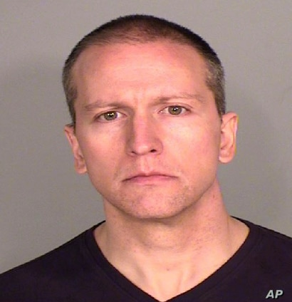 This photo provided by the Ramsey County, Minn., Sheriff's Office shows former Minneapolis police Officer Derek Chauvin, who…