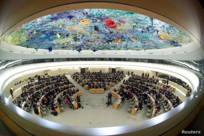 FILE PHOTO: UN Human Rights Council session in Geneva