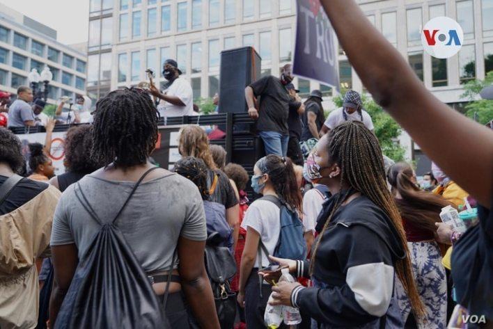 Celebración del Juneteenth en Washington D.C. [Foto: Alejandra Arredondo/VOA]