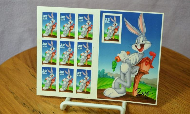 Servicio postal lanzó las estampillas de Bugs Bunny a nivel nacional 1